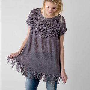 EUC Gimmicks By BKE Fringe Sweater